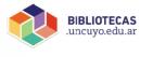 bibliotecas UNCUYO